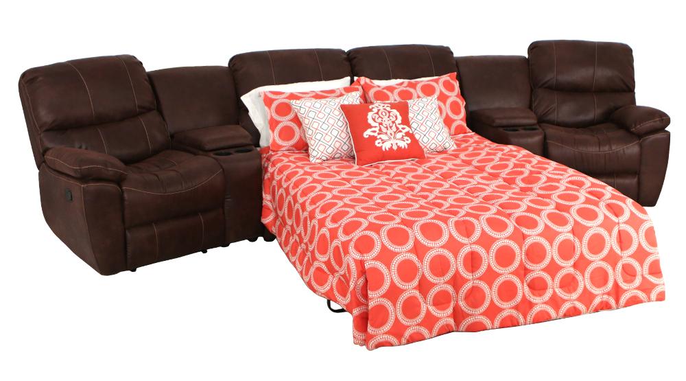 Seatcraft Bismarck Sofa Sleeper Seatcraft - Home theater sofa