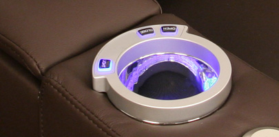 Seatcraft Venetian Home Theater Seating Lighted Cupholders