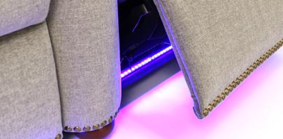 Seatcraft Monroe Home Movie Chairs Base Lighting