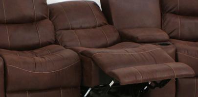 Seatcraft Bismarck Theater Sectional Chaiselounger Recline