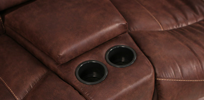 Seatcraft Bismarck Theater Sectional Cup Holders