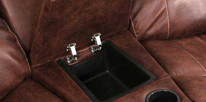 Seatcraft Bismarck Theater Sectional In-Arm Storage