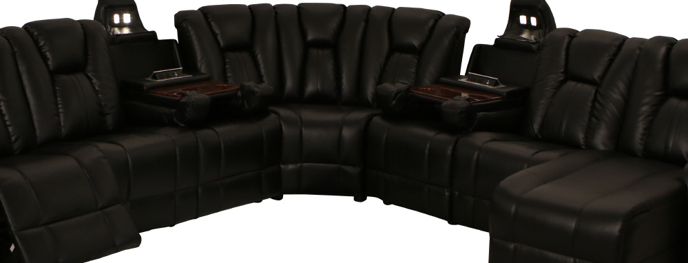 Superbe Seatcraft Innovator Theater Sectional