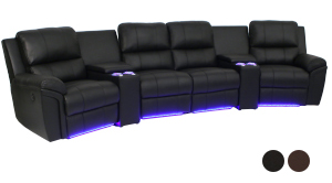 Seatcraft Madison Home Media Sectional
