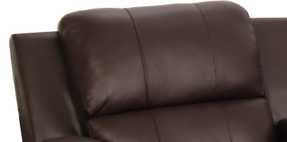 Seatcraft Madison Home Media Sectional Padded Headrests