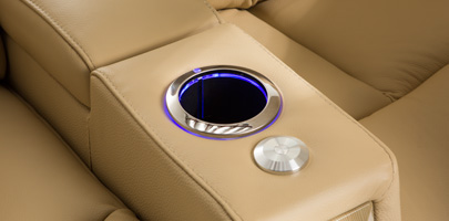 Seatcraft Monaco Home Theater Chairs Lighted Cupholders