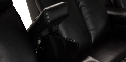 Seatcraft Seville Media Seating In-Arm Storage