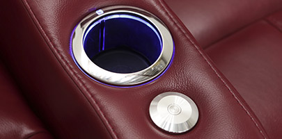 Seatcraft Napa Theater Seat Lighted Cupholders