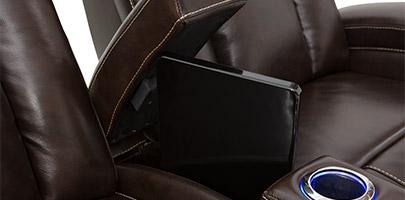 Seatcraft Sierra Home Theater Seat In-Arm Storage