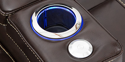 Seatcraft Sierra Home Theater Seat Lighted Cupholders