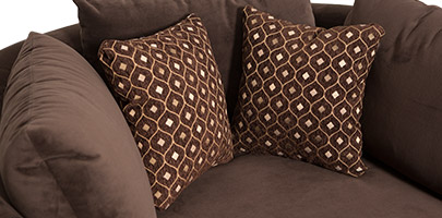 Seatcraft Swivel Cuddle Couch Decorative Pillows