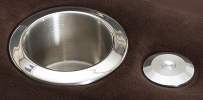 Seatcraft Swivel Cuddle Couch Stainless Steel Cupholders