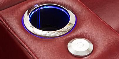 Seatcraft Venetian Love Console Furniture Lighted Cupholders
