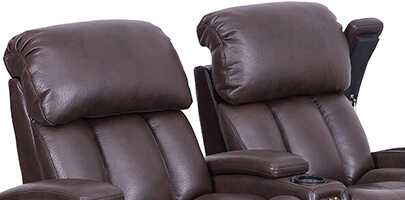 Seatcraft Getty Home Theater Sectional Powered Headrests