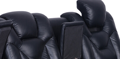 Seatcraft Endeavor Media Sofa Powered Headrests