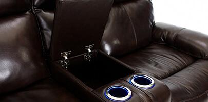 Seatcraft Geneva Sofa and Loveseat Storage