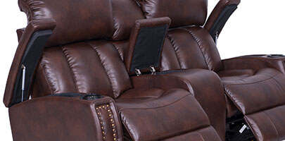 Seatcraft Getty Home Theater Sectional In-Arm Storage