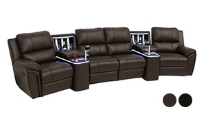 Seatcraft Madison Refreshment Console Sofa
