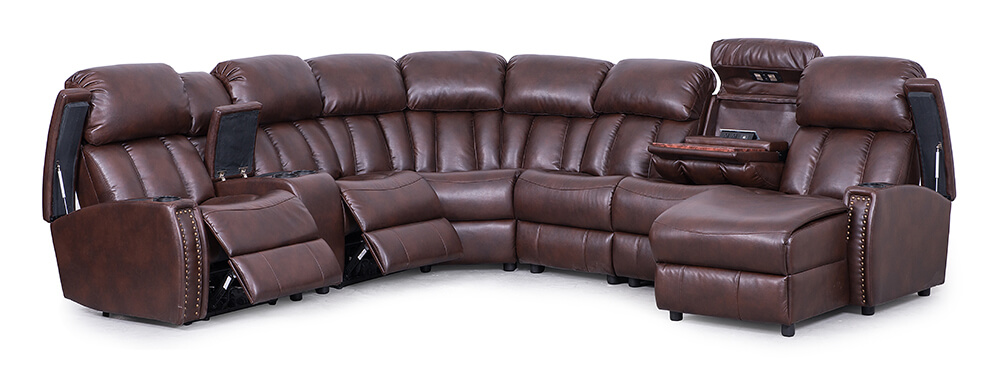 Seatcraft Getty Home Theater Sectional