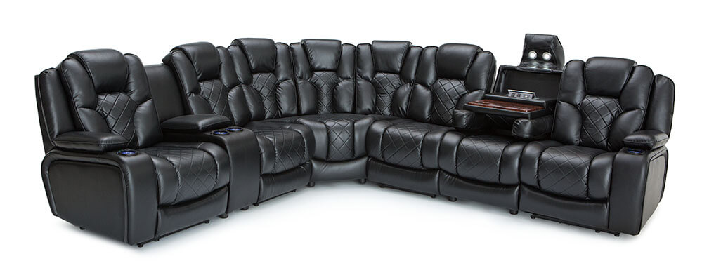 Seatcraft Obsidian Home Theater Sectional Seatcraft
