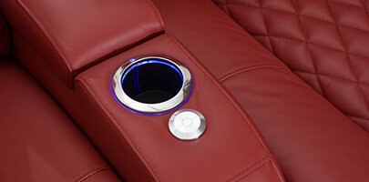 Seatcraft Diamante with Chaise and Lighted Cupholders