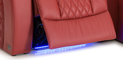 Seatcraft Diamante with Chaise with Ambient Baselighting