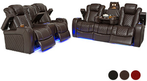 Seatcraft Anthem Home Theater Sofa and Loveseat
