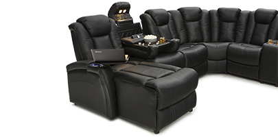 Seatcraft Entrada Home Theater Sectional Power Recline Chaiselounger