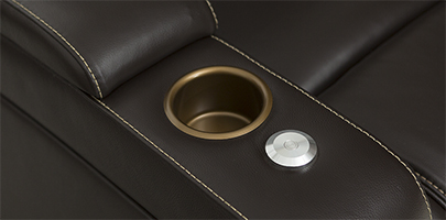 Seatcraft Vienna Home Theater Sofa Cupholders