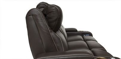Seatcraft Vienna Home Theater Sofa Powered Headrests
