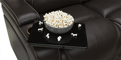 Seatcraft Vienna Home Theater Sofa Tray Tables