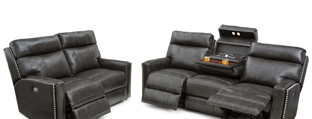 Seatcraft Lombardo Home Theater Sofa and Loveseat | Seatcraft