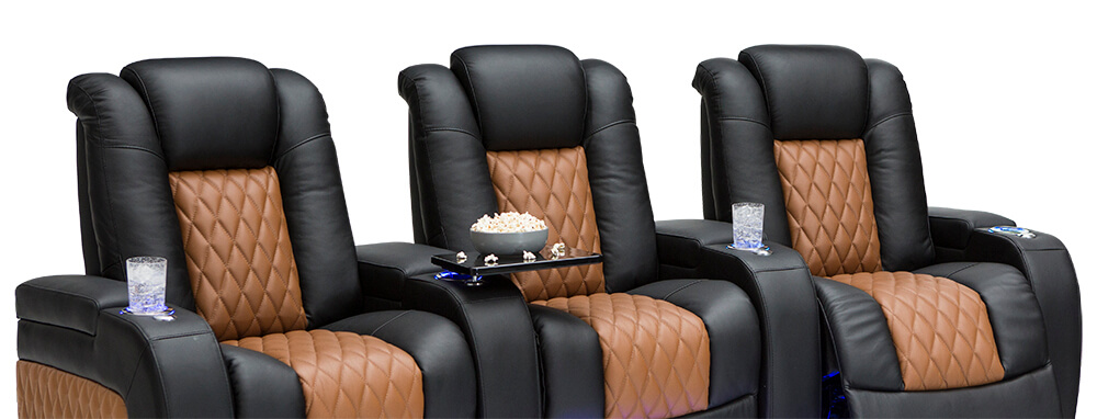 Seatcraft Two Tone Diamante Home Theater Seats