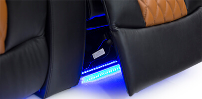 Seatcraft Diamante Home Theater Seats Ambient Lighting