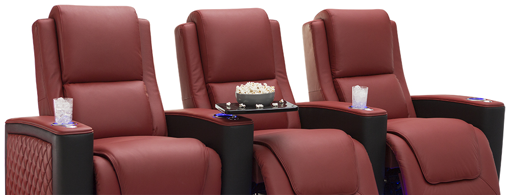 Seatcraft Two Tone Maxim Home Theater Seats