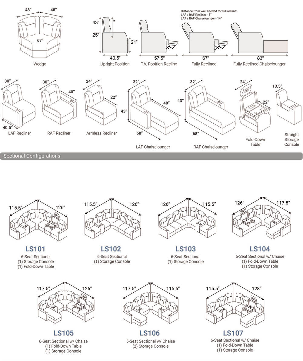 Seatcraft Cadence Multimedia Theater Furniture