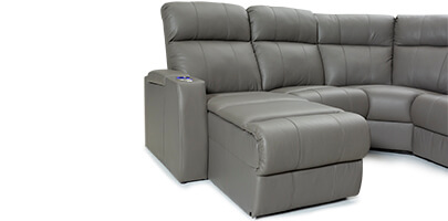Seatcraft Cadence Home Theater Sofa Powered Chaiselounger