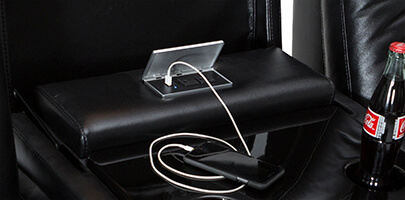 Seatcraft Monte Carlo Multimedia Sofa Power USB Charging Station