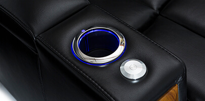 Seatcraft Monte Carlo Home Theater Sofa Cupholders