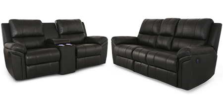 Seatcraft Madison Multimedia Sofa and Loveseat