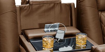 Seatcraft Cadence Multimedia Sofa Power USB Charging Station