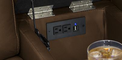 Seatcraft Cadence Multimedia Loveseat Storage Console