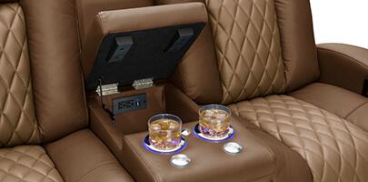 Seatcraft Cadence Multimedia Sofa Storage Console