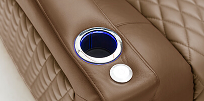 Seatcraft Cadence Home Theater Sofa Cupholders