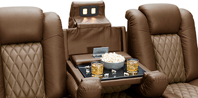 Seatcraft Cadence Home Theater Sectional Fold-Down Table