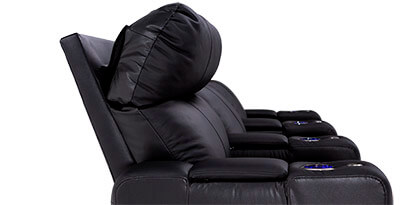 Seatcraft Julius Home Theater Seating Power Headrests