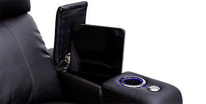 Seatcraft Julius Home Theater Seating In-Arm Storage