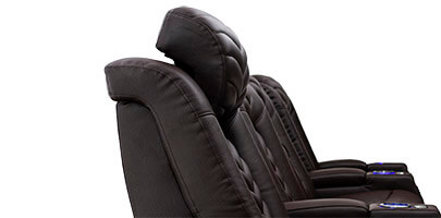 ComfortView Power Adjustable Headrests on Veloce Home Theater Seats