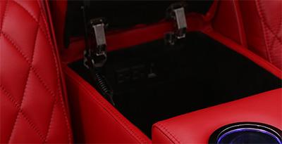 Seatcraft Marathon Multimedia Loveseat Storage Console