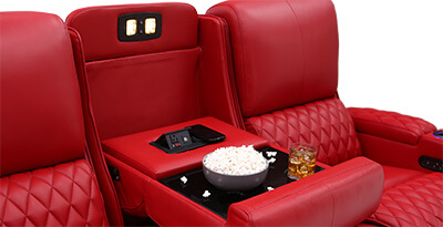 Seatcraft Marathon Home Theater Sofa Fold-Down Table